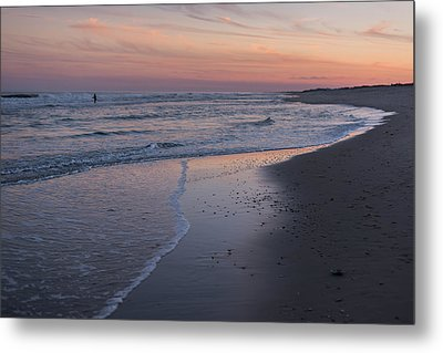 Metal Print featuring the photograph Sunset Fishing Seaside Park Nj by Terry DeLuco