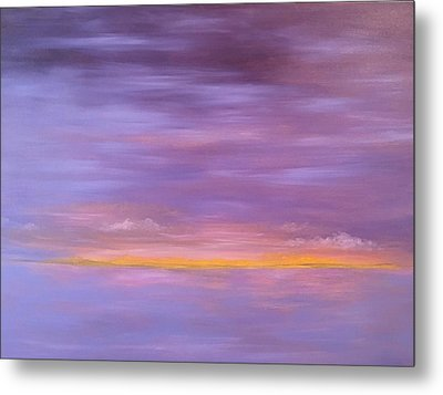 Golden Sunset Metal Print