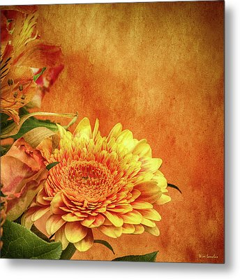 Sunset Flowers Metal Print by Wim Lanclus