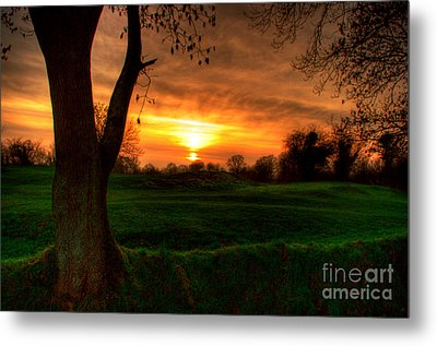 Sunset For The Past Metal Print by Kim Shatwell-Irishphotographer