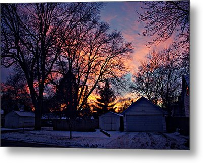 Sunset From My View Metal Print by Kathy M Krause