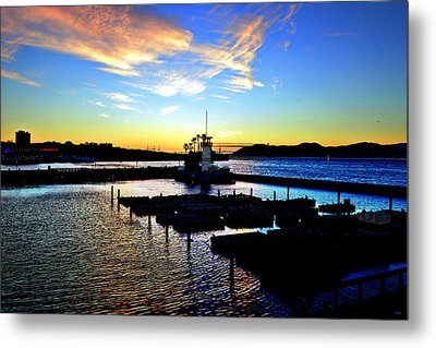 Metal Print featuring the photograph Sunset From Pier 39 - San Fransisco by Glenn McCarthy Art and Photography