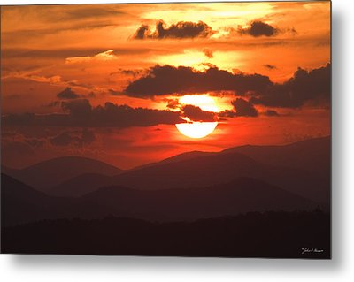 Sunset From The Blue Ridge Parkway Metal Print by John Harmon