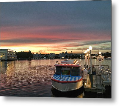 Sunset From The Boardwalk Metal Print