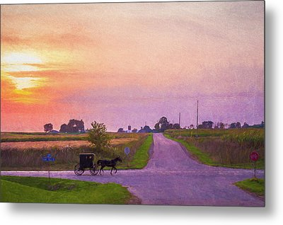 Metal Print featuring the photograph Sunset Gallop by Joel Witmeyer