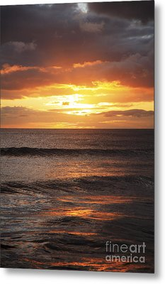 Sunset Glimmering On Ocean Metal Print by Brandon Tabiolo - Printscapes