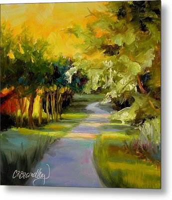 Metal Print featuring the painting Sunset Glow by Chris Brandley