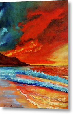 Sunset Hawaii Metal Print by Jenny Lee