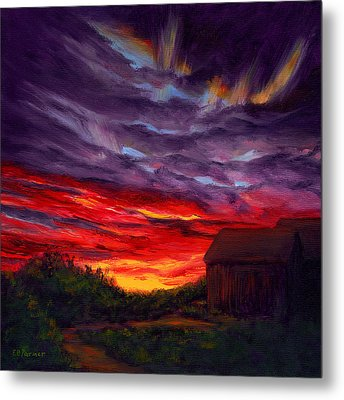 Sunset II Metal Print by Elaine Farmer