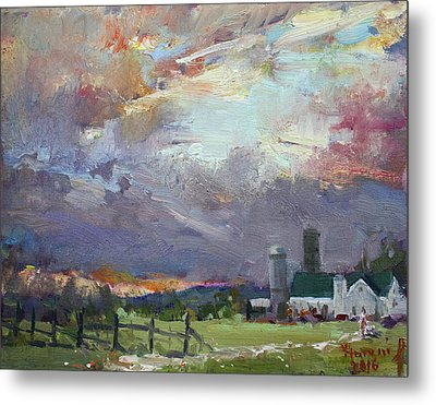 Sunset In A Troubled Weather Metal Print by Ylli Haruni