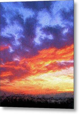 Sunset In Carolina Metal Print