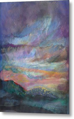 Sunset In Efrat Metal Print by Bryna La