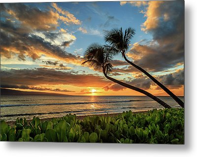 Sunset In Kaanapali Metal Print by James Eddy