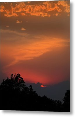 Sunset In Kansas Metal Print