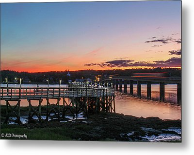 Sunset In Maine Metal Print