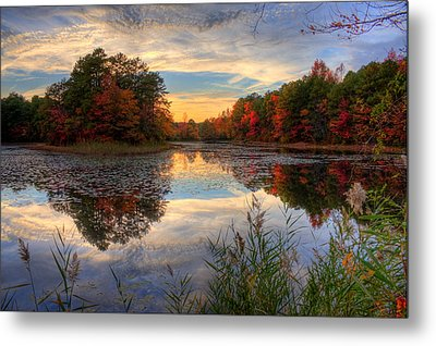 Lake Sunset In New Jersey Metal Print by Kevin Hill