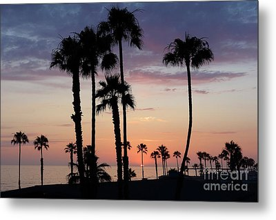 Sunset In Oceanside Metal Print by Nina Prommer