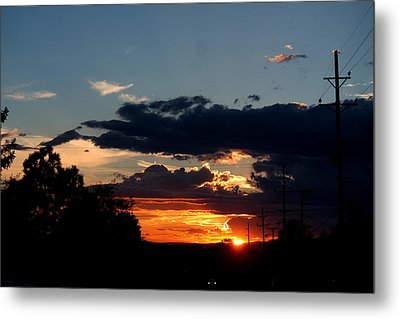 Metal Print featuring the photograph Sunset In Oil Santa Fe New Mexico by Diana Mary Sharpton