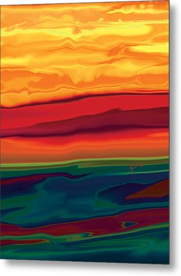 Metal Print featuring the digital art Sunset In Ottawa Valley 1 by Rabi Khan