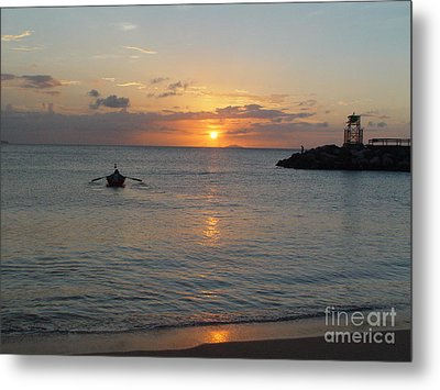 Sunset In Puerto Rico Metal Print by Patty Vicknair