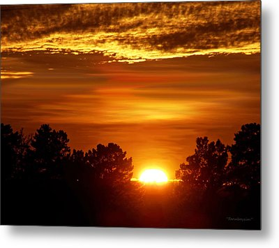 Sunset In Sonoma County Metal Print