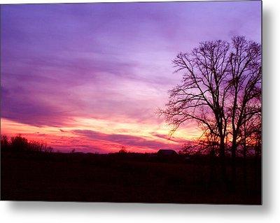Sunset In The Country Metal Print by Amanda Kiplinger