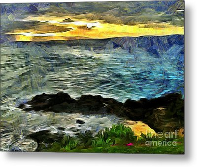 Sunset In The Cove Metal Print by Krissy Katsimbras