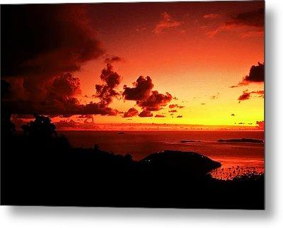 Sunset In The Islands Metal Print by Bill Jonscher