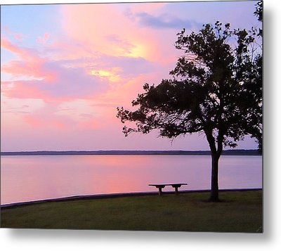 Sunset In The Pass Metal Print