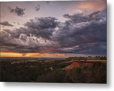 Sunset In The Red Hills Metal Print