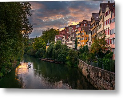 Sunset In Tubingen Metal Print
