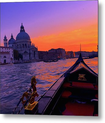 sunset in Venice Metal Print by Happy Home Artistry