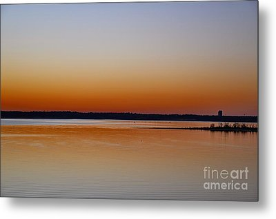 Metal Print featuring the photograph Sunset Lake Texhoma by Diana Mary Sharpton