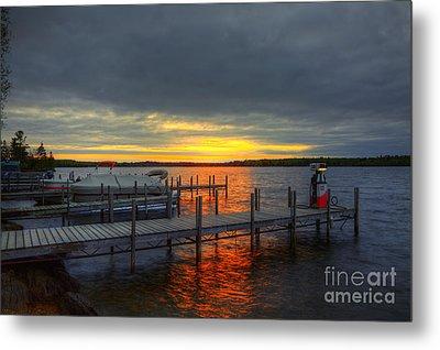 Sunset Lake Vermillion Minnesota Metal Print by Wayne Moran