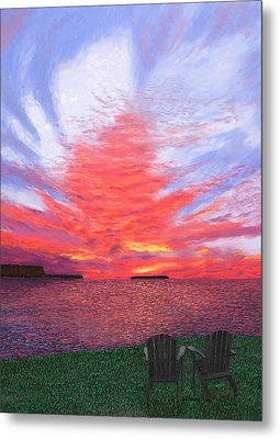Sunset Lovers Metal Print