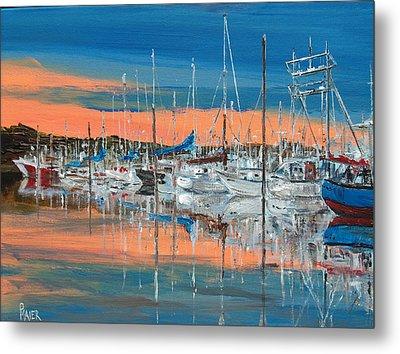 Sunset Marina Metal Print by Pete Maier