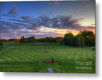 Sunset Minnesota National Golf Course Championship Course Metal Print by Wayne Moran