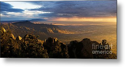 Sunset Monsoon Over Albuquerque Metal Print