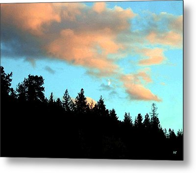 Sunset Moon Metal Print by Will Borden