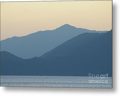 Sunset Mountain Symphony Metal Print by Catja Pafort