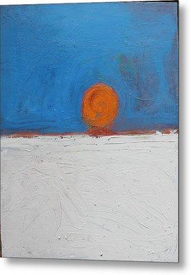 Sunset No. 11 Oil On Board 16 X 20 2008 Metal Print by Radoslaw Zipper