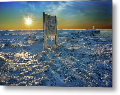 Sunset Of Frozen Dreams Metal Print by Kathi Mirto
