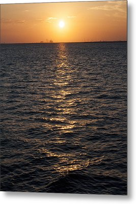 Sunset On Bay Metal Print