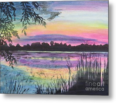 Sunset On Buck Pond Metal Print