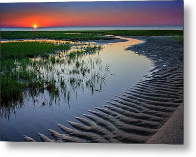 Sunset On Cape Cod Metal Print by Rick Berk