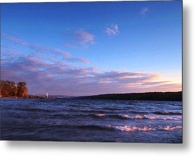 Sunset On Cayuga Lake Ithaca Metal Print by Paul Ge