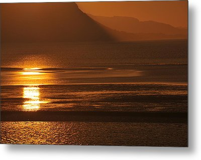 Sunset On Coast Of North Wales Metal Print by Harry Robertson