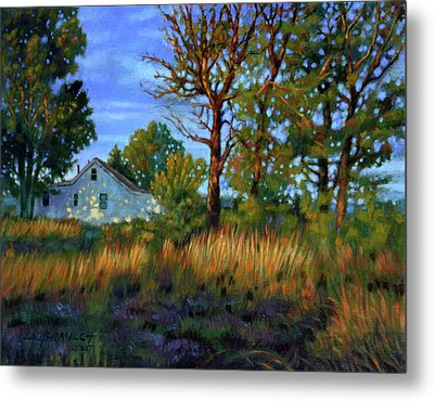 Sunset On Country Home Metal Print by John Lautermilch