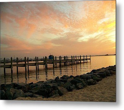 Sunset On Dewey Bay Metal Print