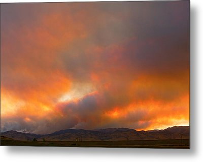 Sunset On Fire Metal Print by James BO  Insogna